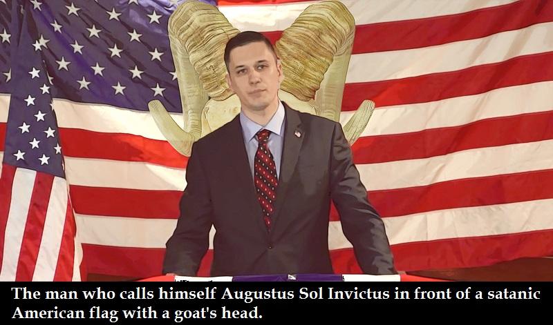 augustus sol invictus candidat au senat americain  sacrifie une chevre  bu son  le